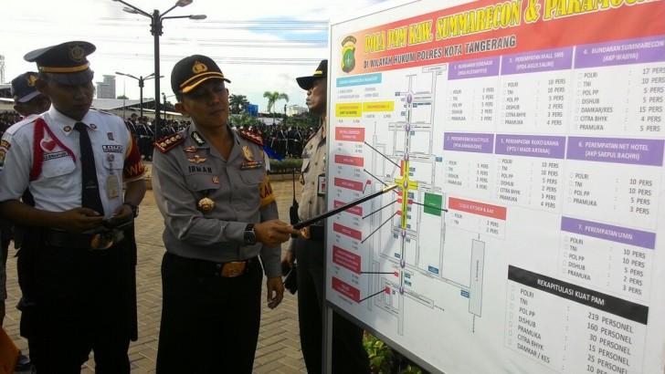 AMANKAN MALAM TAHUN BARU , 1.982 PERSONEL POLRESTA TANGERANG DITERJUNKAN