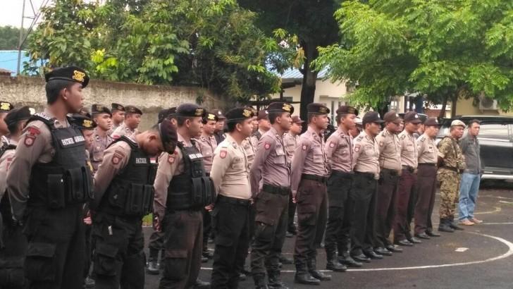 AMANKAN UNJUK RASA FSBM : Puluhan Personil Gabungan Diterjunkan