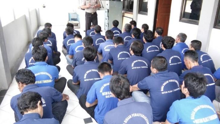 Segera Bebas dari Rutan Kelas 1 Tangerang, Puluhan Tahanan dapat Pembinaan dari Sat Binmas Polres Kota Tangerang