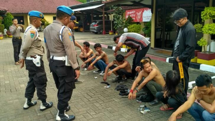 Jelang Operasi Ramadniya 2017, Puluhan Preman Diamankan Polres Kota Tangerang