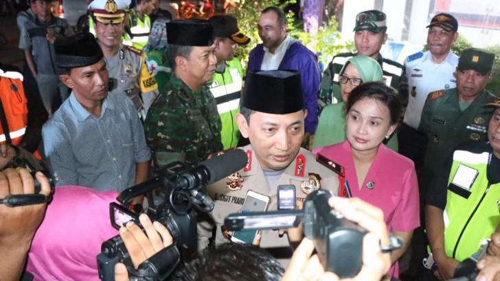 Kapolda Banten Tinjau Langsung Pengamanan Malam Takbir di Polres Kota Tangerang