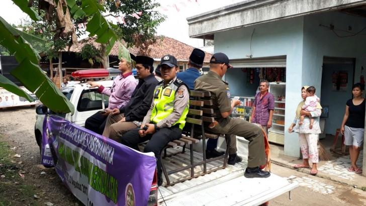 4 Calon Kades Pasirnangka Kampanye Damai Keliling Kampung