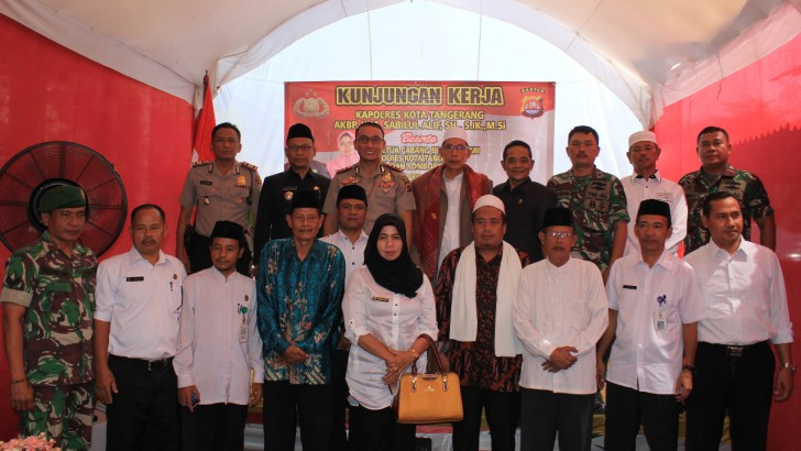 Kunker Kapolresta Tangerang : Polri Harus Meningkatkan Jalinan Komunikasi Dengan Muspika dan Elemen Masyarakat