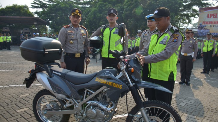 Apel Gelar Pasukan, Kapolres Pastikan Pilkades di Kabupaten Tangerang Kondusif