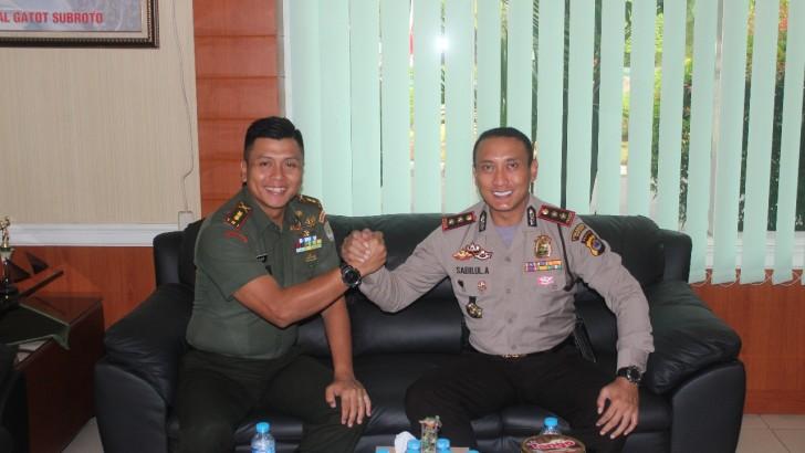 Jaga Kekompakan, Kapolresta Tangerang Silaturahmi Ke Kodim 0506 Tangerang