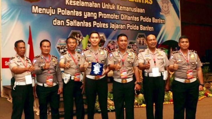 Jumlah E-tilang Terbanyak, Sat Lantas Polresta Tangerang Sabet Juara 1
