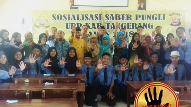 Cegah Pungli, Tim Saber Pungli UPP Kab. Tangerang lakukan Sosialisasi