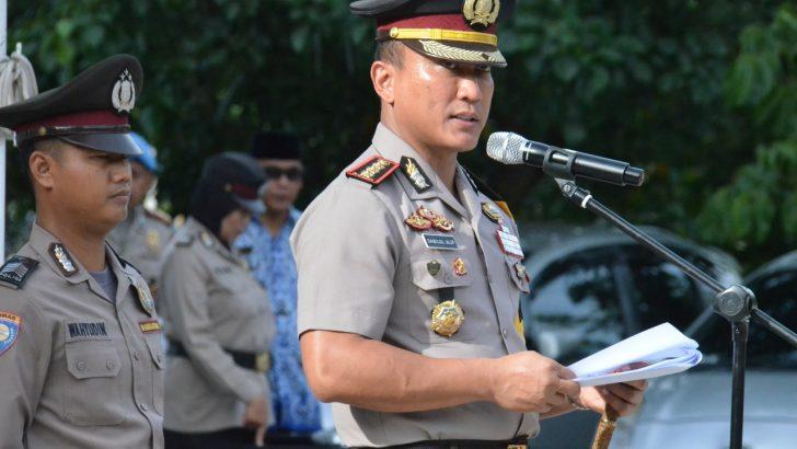 Polres Kota Tangerang melaksanakan Upacara Hari Kesadaran Nasional