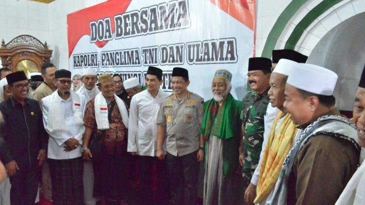 Kapolri dan Panglima TNI Doa Bersama untuk Korban Tsunami Selat Sunda di Pandeglang