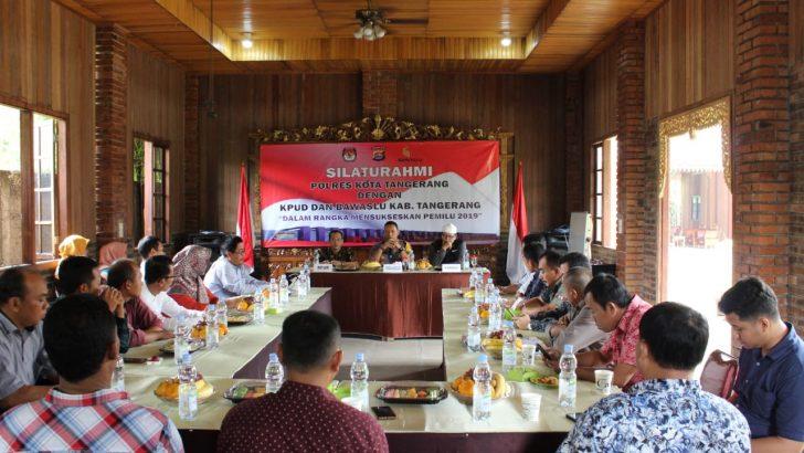 Jelang Pemilu 2019, Polresta Tangerang Silaturahmi Bersama KPU dan Bawaslu