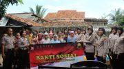 Bangkitkan Kepercayaan Masyarakat, Polwan Polresta Tangerang Gelar Bakti Sosial