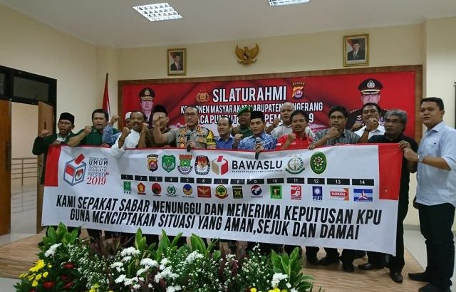 Deklarasi Damai Pasca Pemilu Polresta  Tangerang