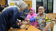 Sambut Hari Bhayangkara, Ratusan Anggota Polresta Tangerang Donor Darah