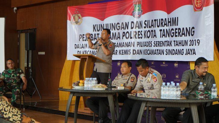 Wakapolresta Tangerang Kumpulkan Calon Kades dari Dua Kecamatan