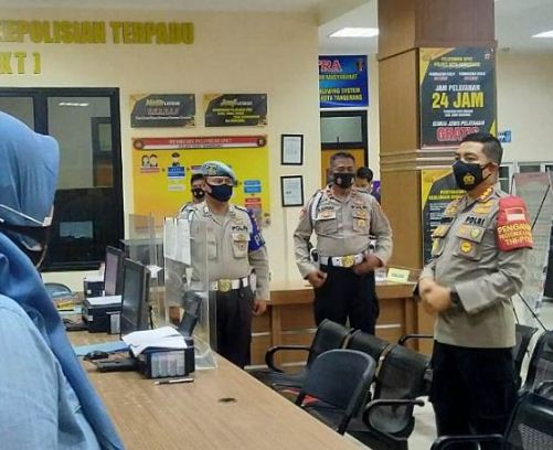 Pastikan Protokol Kesehatan Berjalan, Kapolresta Tangerang Cek Pelayanan SKCK