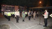 Malam Minggu, Kapolresta Pimpin Apel Siaga patroli skala besar dan Operasi Yustisi