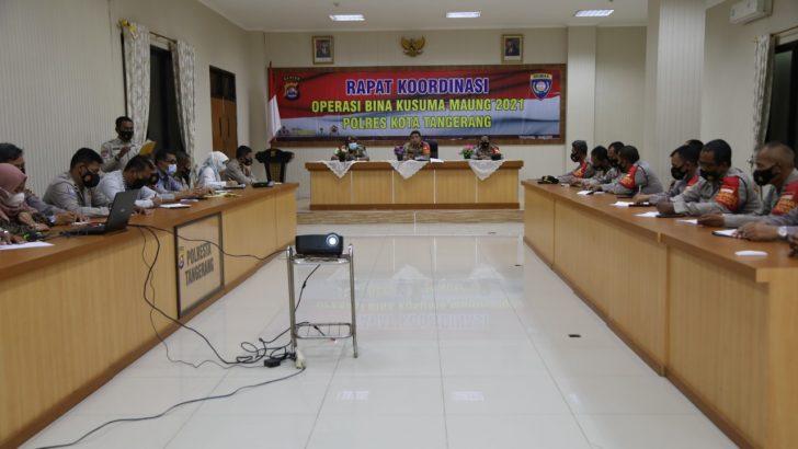 Kapolresta Tangerang Pimpin Rakor Operasi Bina Kusuma Maung 2021