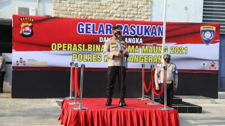 Tekan Gangguan Kamtibmas, Polresta Tangerang Gelar Operasi Bina Kusuma Maung