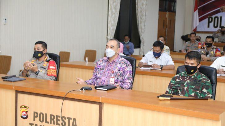 Forpimda kab tangerang Ikuti Rakor Lintas Sektoral Pengamanan Idul Fitri di Masa Pandemi Covid-19