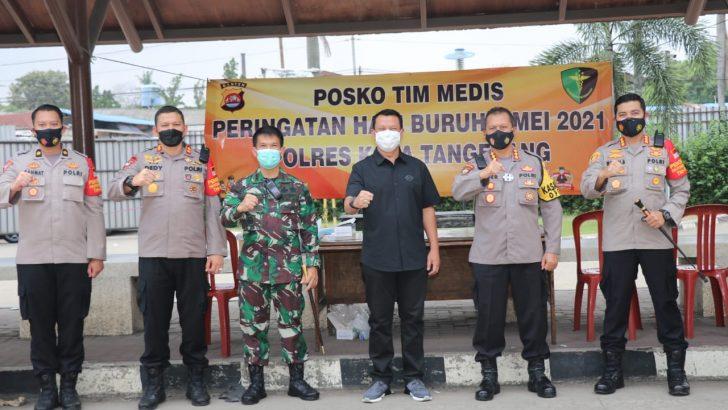 Kapolda Banten Cek Pengamanan Peringatan May Day di Wilkum Polresta Tangerang