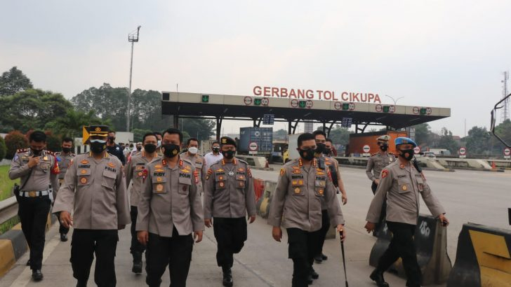 Jelang Masa Peniadaan Mudik, Kapolda Banten Cek Pos Penyekatan Wilkum Polresta Tangerang
