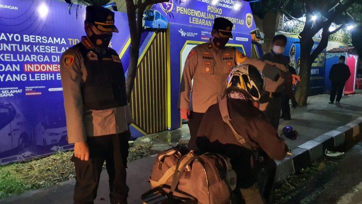 Masa Peniadaan Mudik Resmi Berlaku, Kapolresta Tangerang Cek Pos Penyekatan Perbatasan, 3 Motor dan 10 Mobil  Diputar Balik
