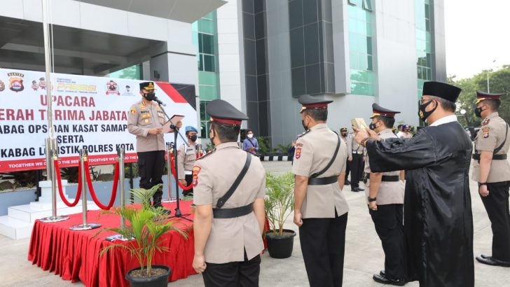 Kapolresta Tangerang Pimpin Sertijab Kabag Ops dan Kasat Samapta, Serta Kukuhkan Jabatan Baru