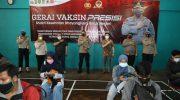 Kapolresta Tangerang Tinjau Gerai Vaksin Presisi, 3.000 Orang Vaksinasi Diarahkan Pakai Masker Double