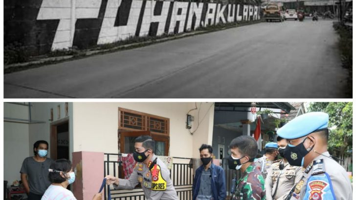 Kapolresta Tangerang dan Dandim Tigaraksa Sambangi Rumah Pembuat Mural yang Viral