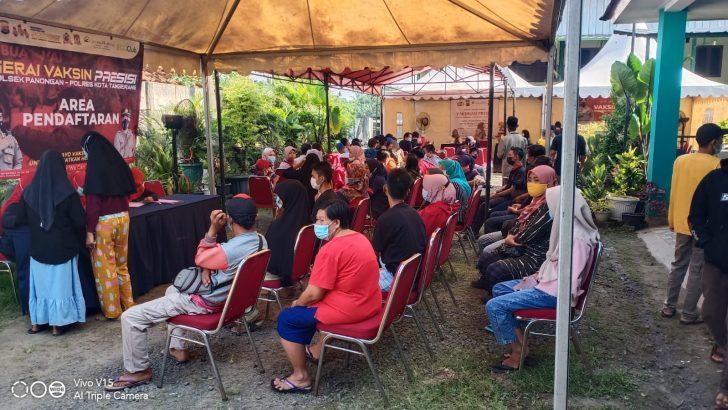 Kebut Vaksin Presisi, Polsek Panongan Polresta Tangerang menargetkan 1.000 Orang Perhari