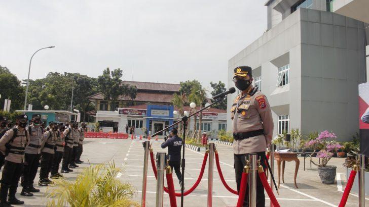 Kapolresta Tangerang Cek Personel BKO Pengamanan Pilkades Serentak di Lebak