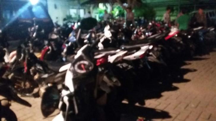 90 UNIT SEPEDA MOTOR TERJARING OPERASI BALAP LIAR