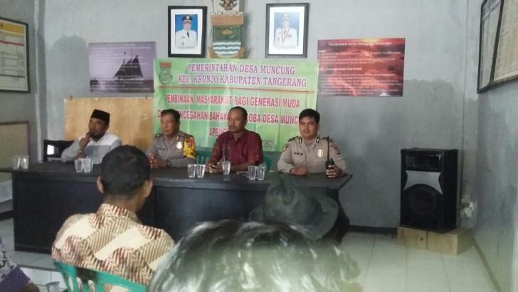 Kanit Binmas Memberikan Penyuluhan Kamtibmas Dan Bahaya Narkoba