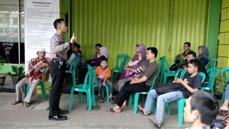 Sambang BPJS Ketenagakerjaan, Polisi Sampaikan Imbuan Kamtibmas Kepada Pengunjung