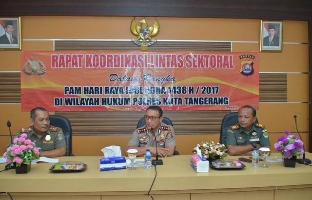 Ratusan Personil Polresta Tangerang Siap Amankan Idul Adha 1438 H