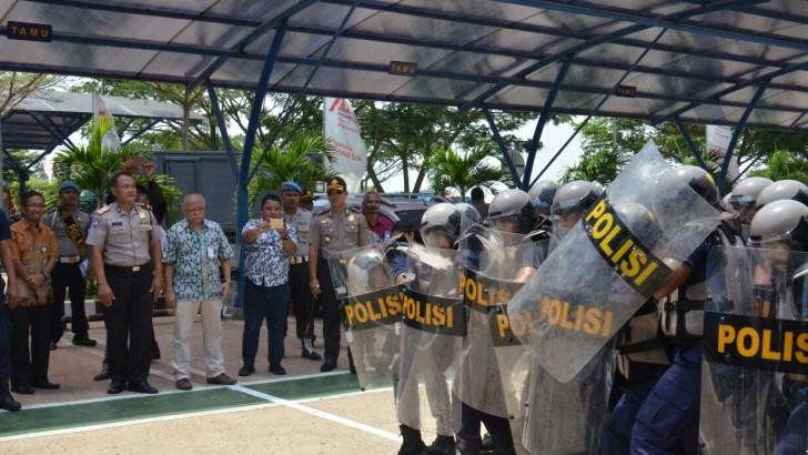 Puluhan Satpam PLTU 3 Banten Dilatih hadapi Massa