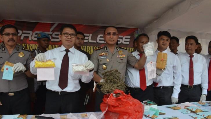 Polresta Tangerang Amankan 48 Tersangka Narkoba