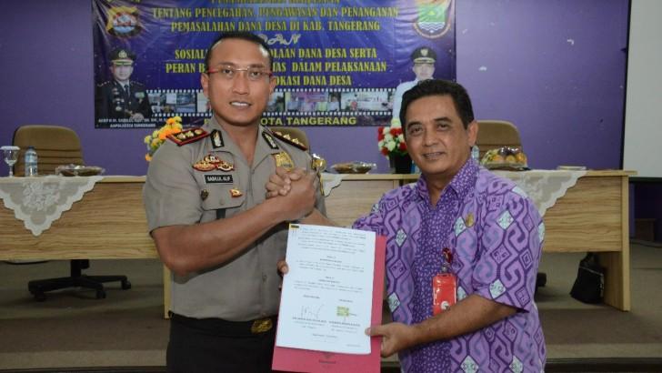Polresta Tangerang dan DPMPD MoU Awasi Dana Desa