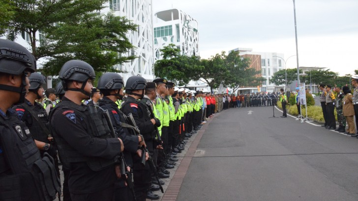Ratusan Personel Gabungan Polresta Tangerang Siap Amankan Malam Tahun Baru
