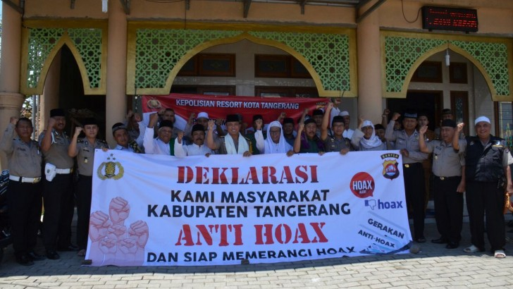 Polresta Tangerang Bersama Berbagai Elemen Masyarakat Deklarasi Anti Hoax
