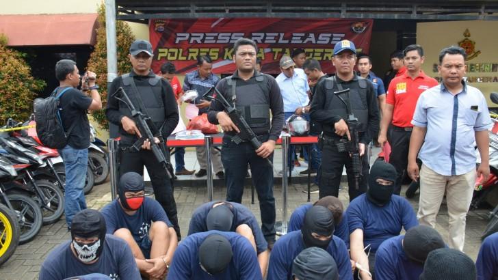 Dalam Dua Bulan, Polresta Tangerang Ringkus 26 Pelaku Curanmor