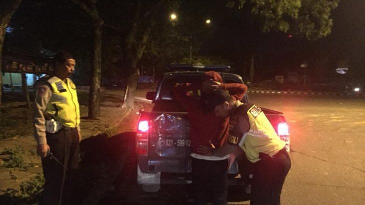 Cegah Aksi Kejahatan, Polsek Tigaraksa Rutin Patroli Malam Hari