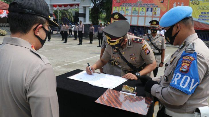 Kapolresta Tangerang Pimpin Sertijab Kasat Intelkam dan Kapolsek Panongan