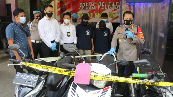 Mencuri Motor Dengan Omset Miliaran Setahun,Dua Pria Ditangkap Polres Kota Tangerang