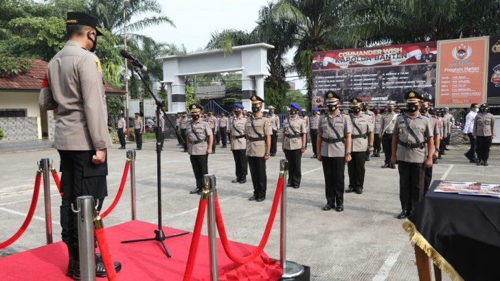 Kapolresta Tangerang Pimpin Upacara Setijab, Kabag, 2 Kasat, dan Kapolsek Cikupa