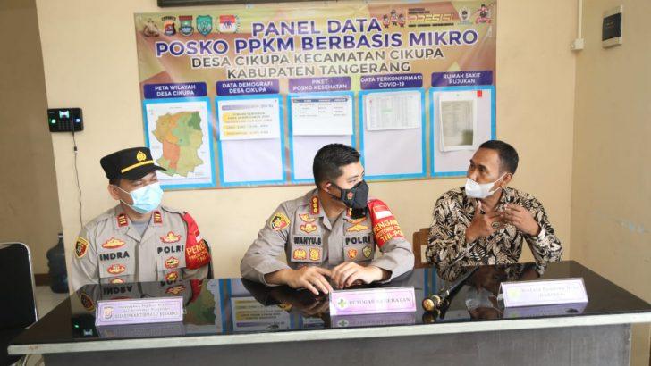 Kapolresta Tangerang Cek Posko PPKM Berbasis Mikro di Cikupa