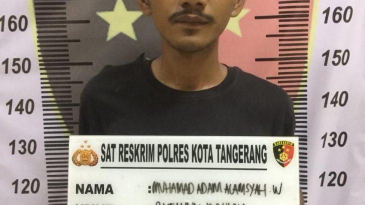 Tidak Sampai Sehari, Polresta Tangerang Ciduk Pelaku Curas yang Pepet Motor Korban Hingga Tersungkur