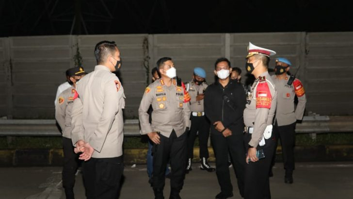 Kapolresta Tangerang Pimpin Kegiatan Penyekatan di Pintu Tol Kedaton