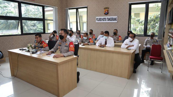 Kapolresta Tangerang Ikuti Anev Mingguan Kapolda Banten