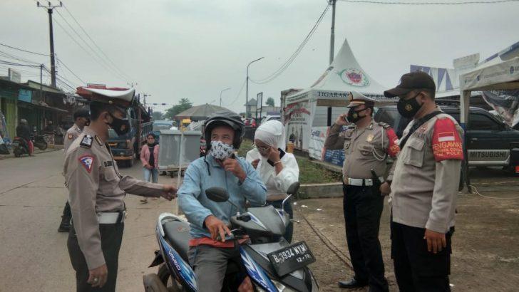 Polsek Tigaraksa Polresta Tangerang dan Muspika Gelar Operasi Yustisi Penumpang Stasiun Kereta Api